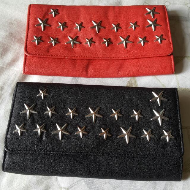 2 X Star Studded Wallets