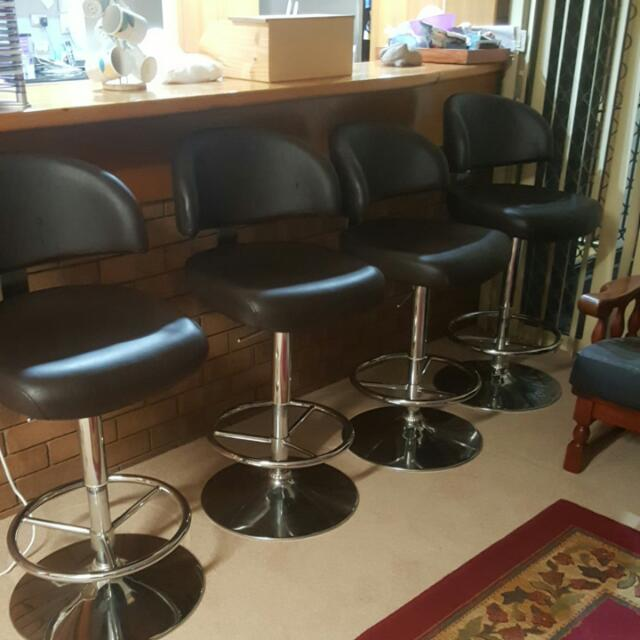 (2 Left) 360 Degree Swivel Bar Stools