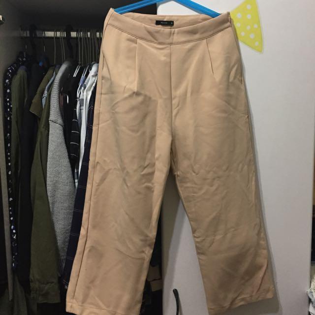 粉膚色西裝寬褲