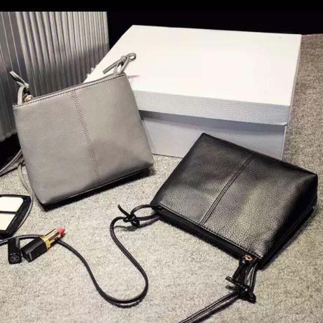全新灰色小包包