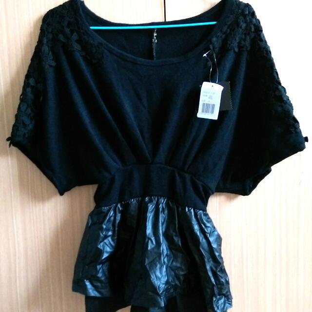 全新 黑色連身短裙