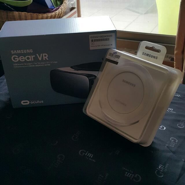 搬家 出清 全新 Samsung 三星 Gear VR + 無線充電版