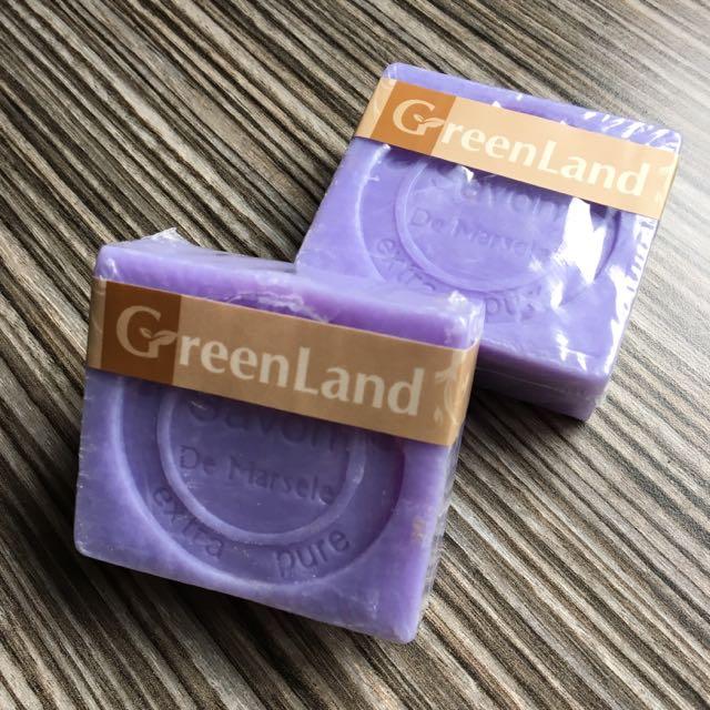 (全新) GreenLand 薰衣草馬賽皂90g