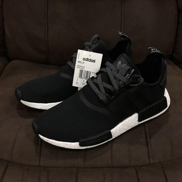 Adidas NMD R1 Black Reflective, Men's Fashion, Footwear