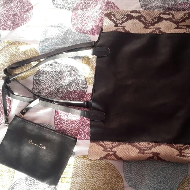 Authentic snake skin Massimo Dutti Bag
