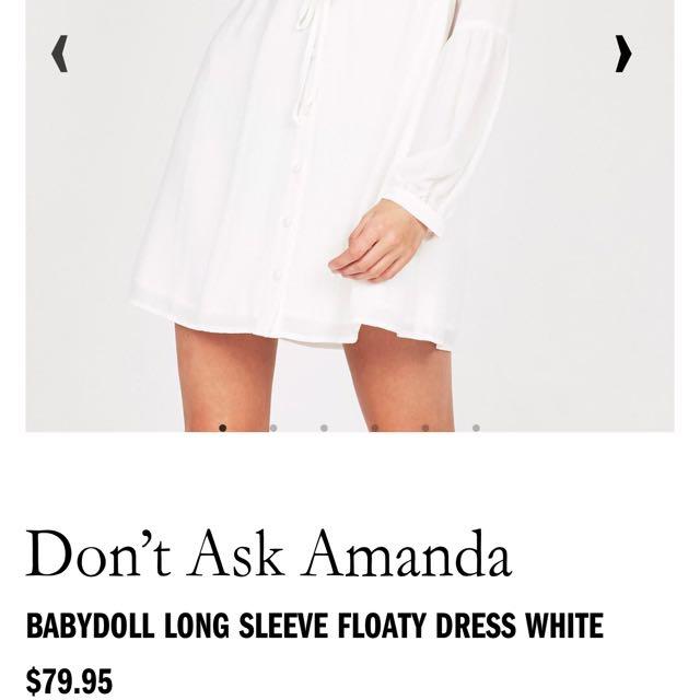 Baby Doll Long Sleeve Floaty Dress