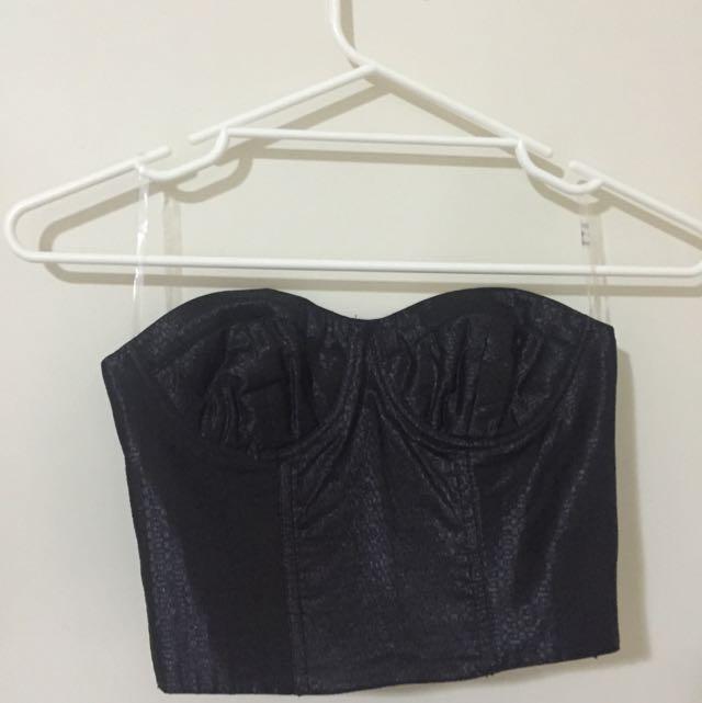 Black Corset Crop