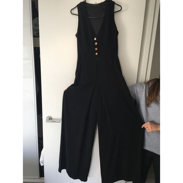 Black, Full Length Jumpsuit Size 6