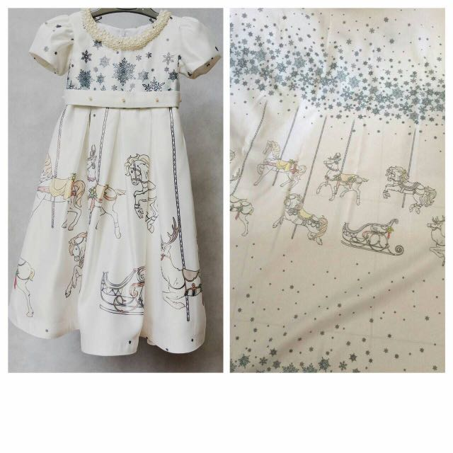 Carousel Dress For 1st Birthday Party Mom And Daughter Babies