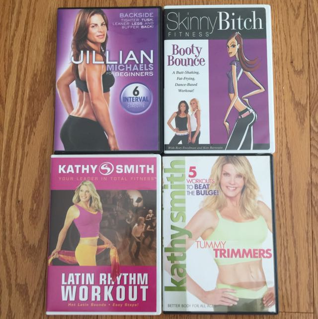 Combo of 4 Work-out DVDs for Beautiful You! :-)