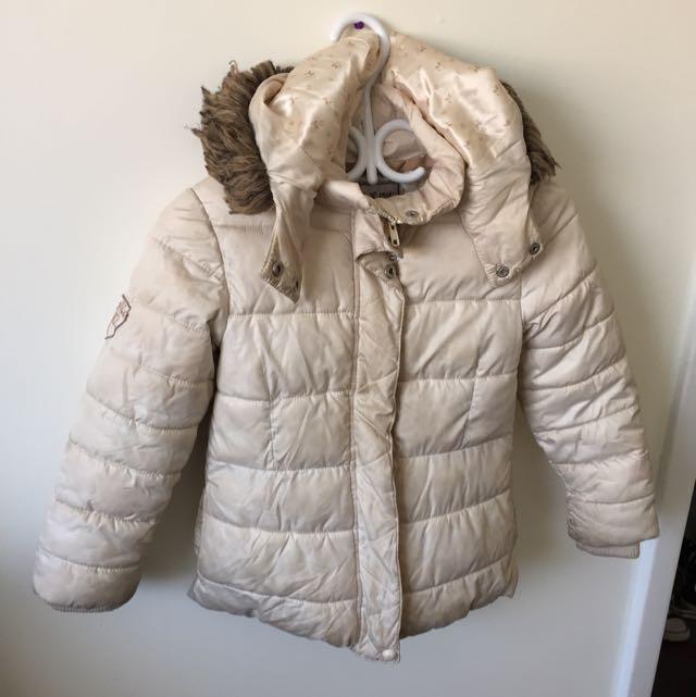 Cream Girl Winter Jacket