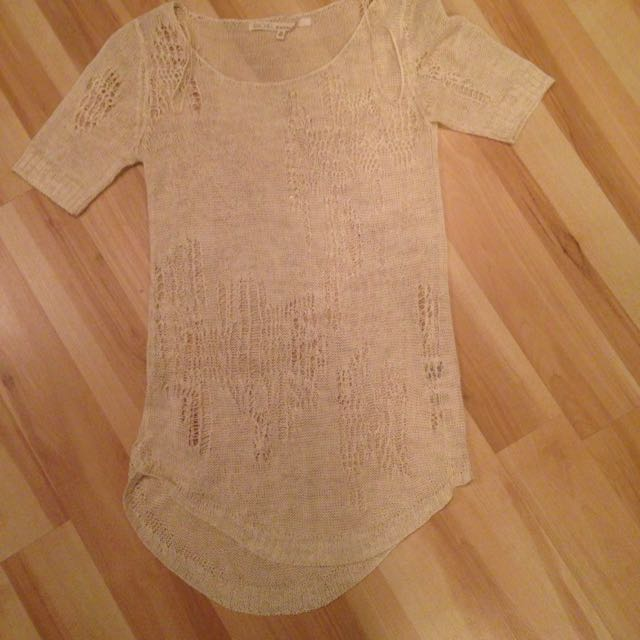 Crochet Tunic/Tee By Rachel Roy
