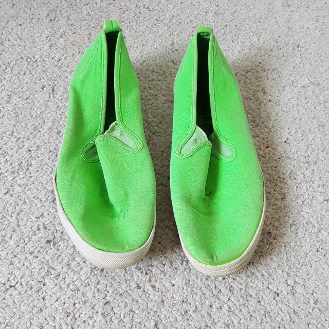 Fluoro Green Raben Sneakers