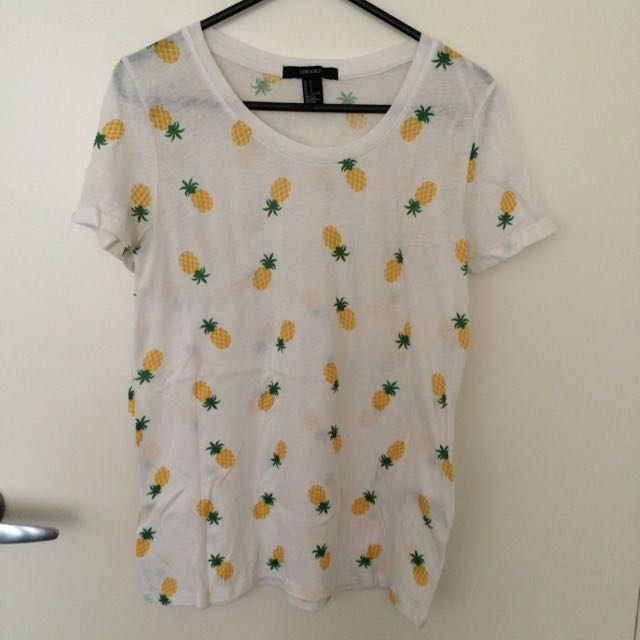 Forever21 Comfy Pineapple Tshirt