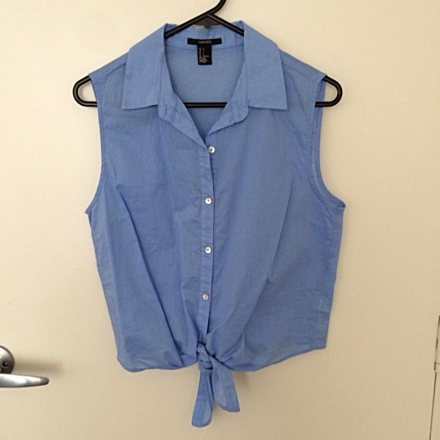 Forever21 Sleeveless Button Up