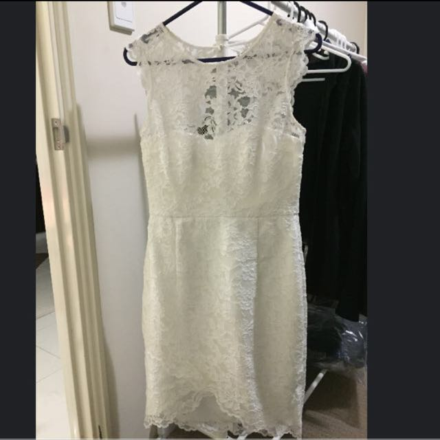 Forever New White Lace Dress