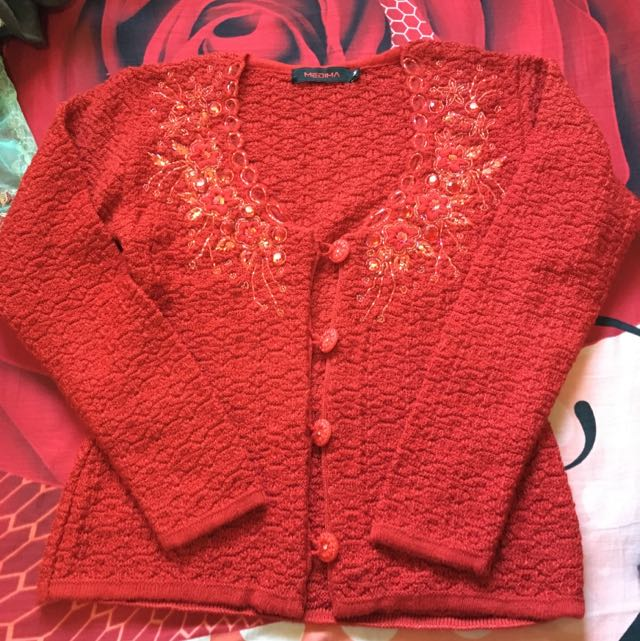 Handwoven Red Sweater
