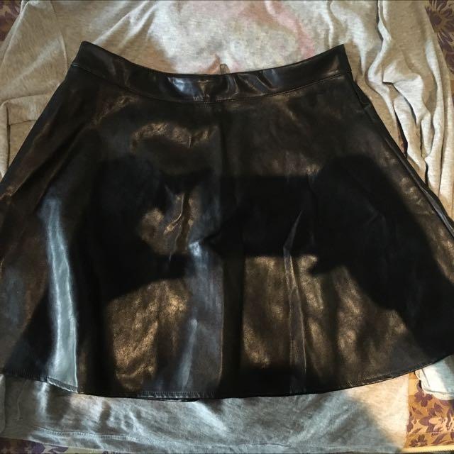 Highwaist Leather Skirt