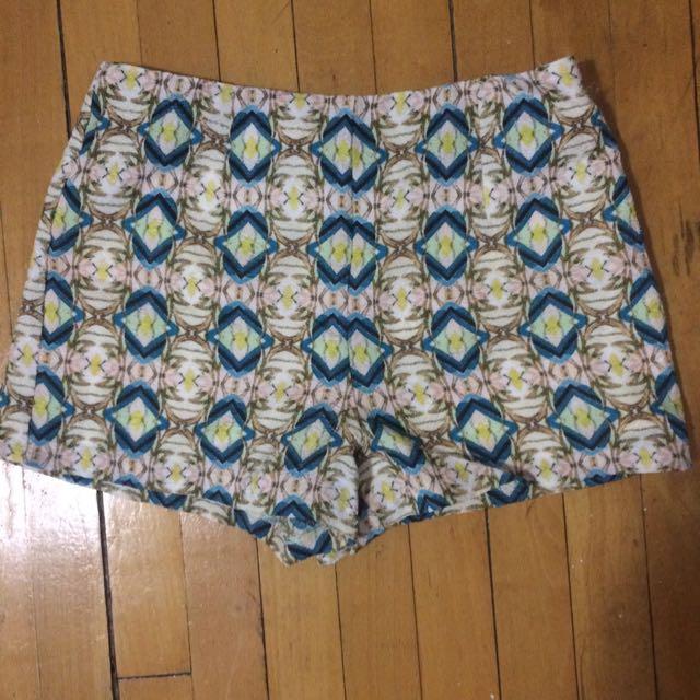 Ikat Print Shorts