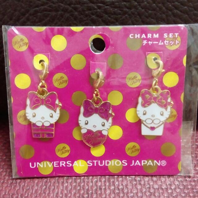 日本環球kitty吊飾組