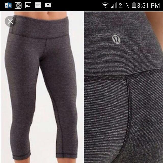 Lululemon Grey Capri Leggings