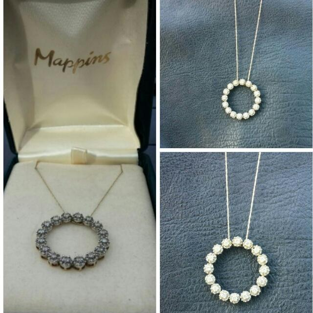 *REDUCED* Mappins Circle of Life Diamond Necklace