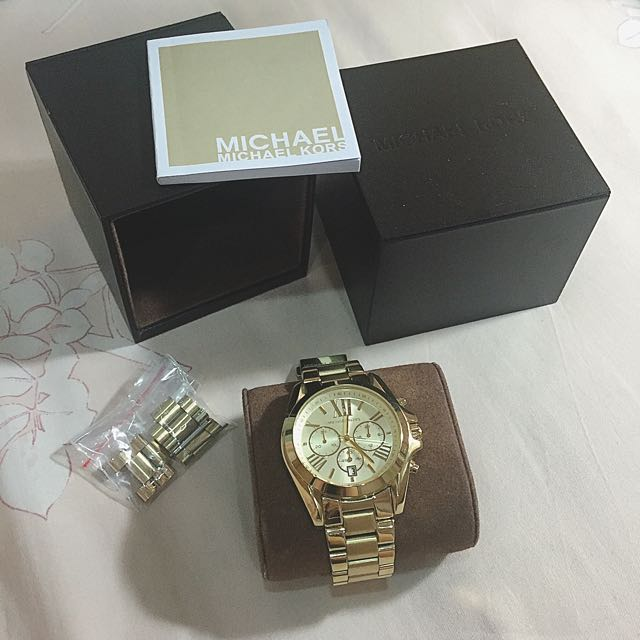 Michael Kors mk5605 三眼金錶