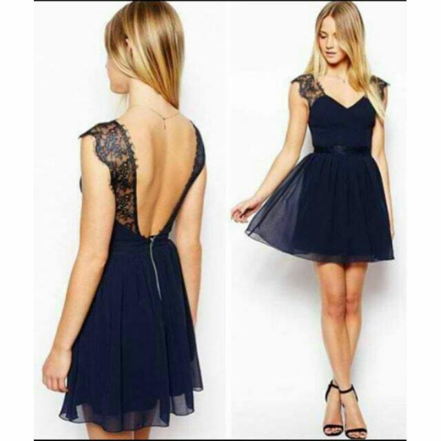 Navy Blue Sexyback Dress