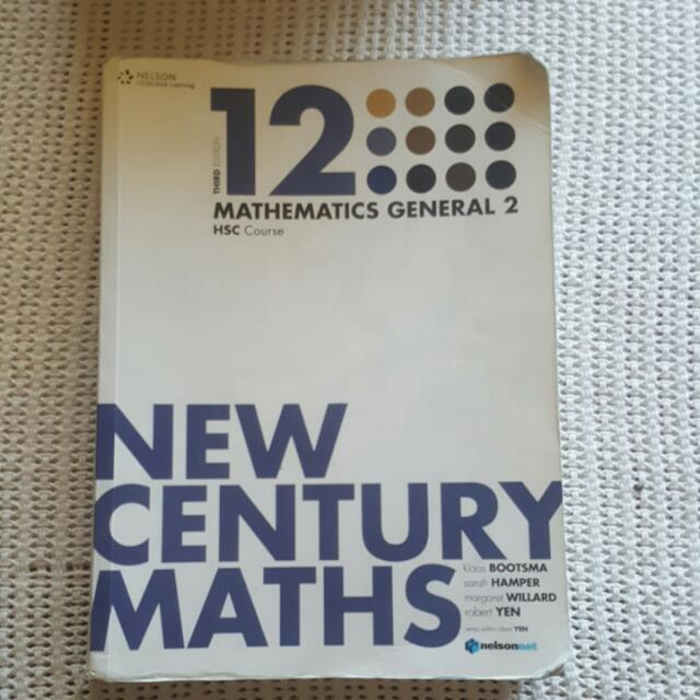New Century Maths General 2 3rd Ed Hsc Textbook