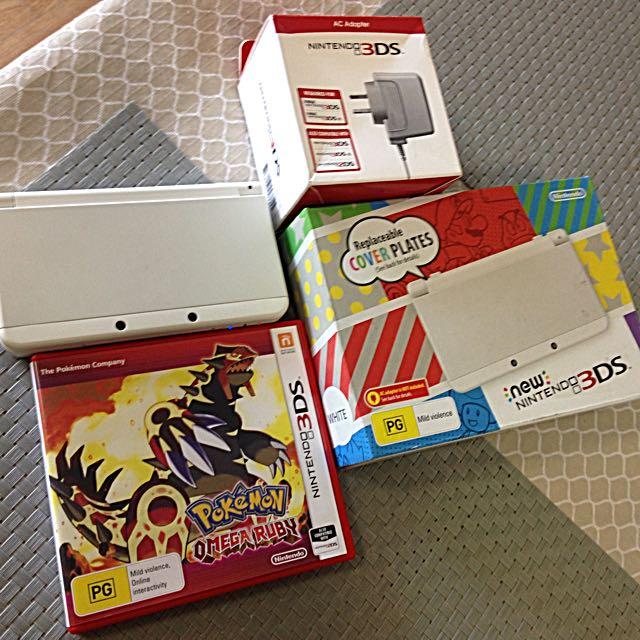 NINTENDO NEW 3DS + Pokemon OMEGA RUBY