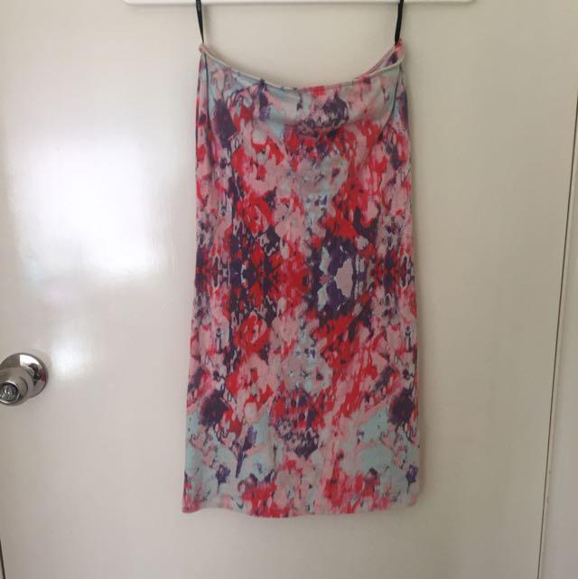Off Shoulder Pink Dress