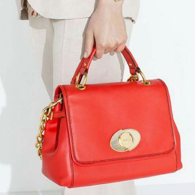Oroton Luminous Red Bag
