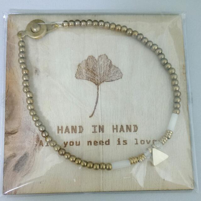 [全新🎉轉賣]pinkoi手作hand-in-hand月光石手鍊