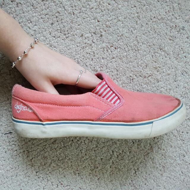 Pink/Peach Coloured Sneakers