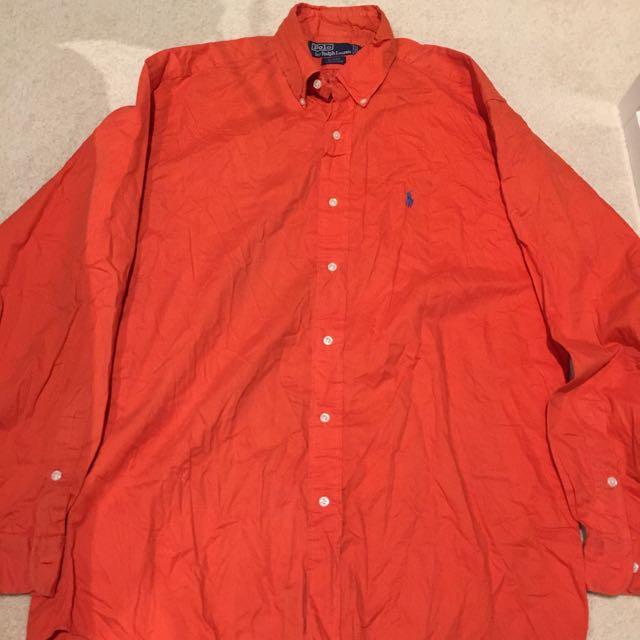 Polo Ralph Lauren Orange Shirt Oxford