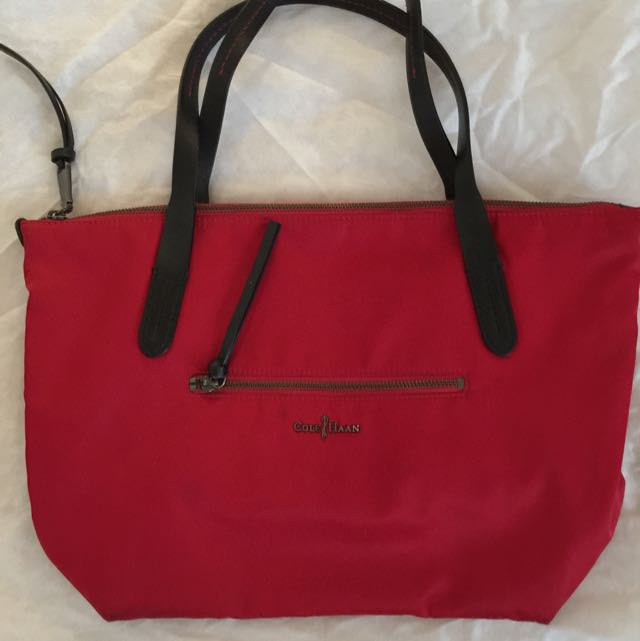 Red Cole Haan Tote