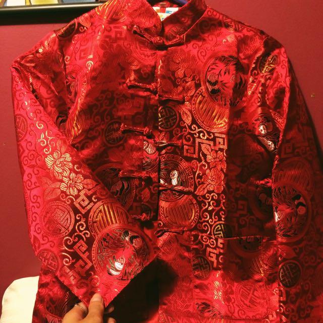 Red Satin Chinese Jacket