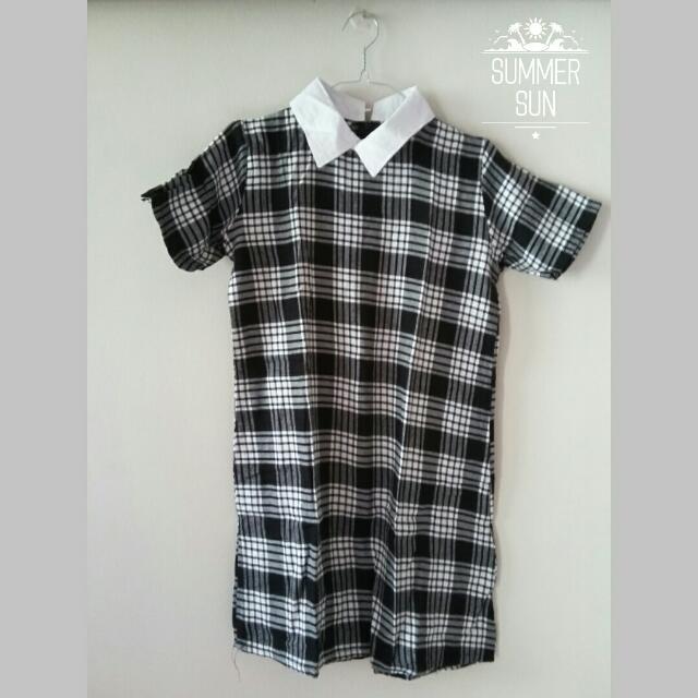 Tartan Dress - Black