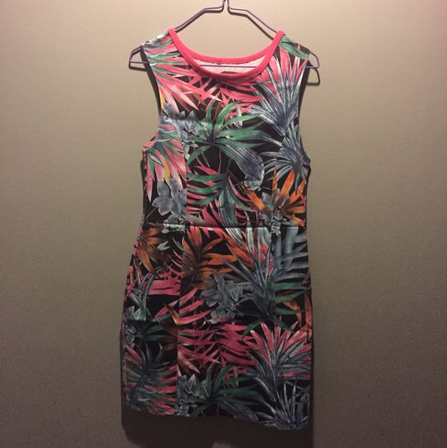 Tropical Backless Summer Dress