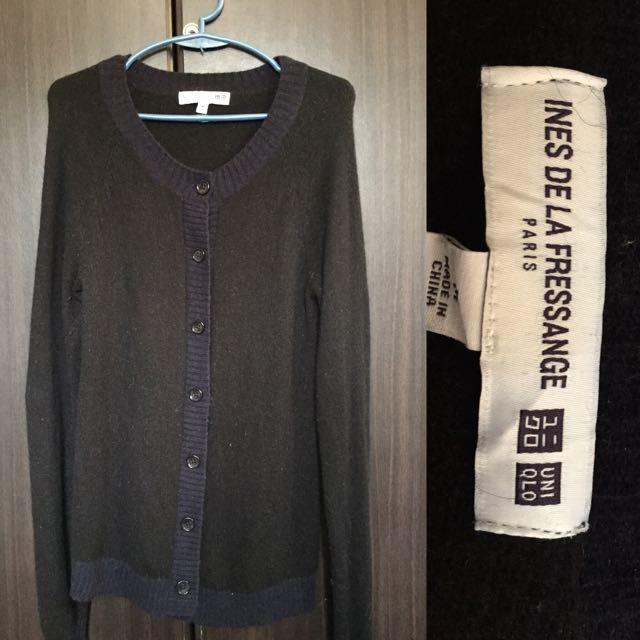 Uniqlo Black And Blue Sweater