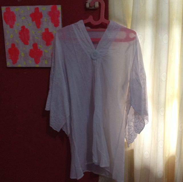white cotton kaftan all size