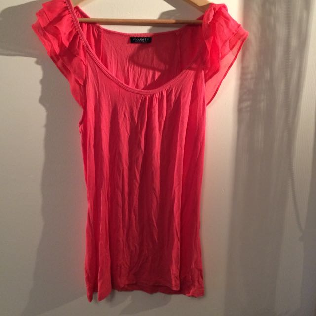 Womens Size 12 Frilled Sleeve Top