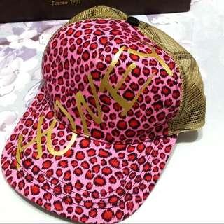 HONEY 粉紅豹紋帽