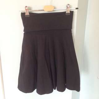 American Apparel Foldable Cotton Skirt Black