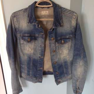 Zara Distressed Jean Jacket