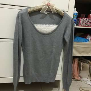 Sweater Lace Detail Size M