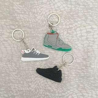 Yeezy & Nike Keychains (3PK)