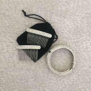 Bitter Sweet Hair Comb & Bracelet Set