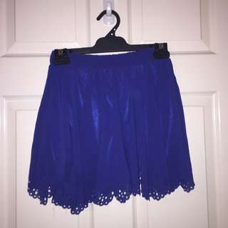 Blue Skirt With Built In Shorts