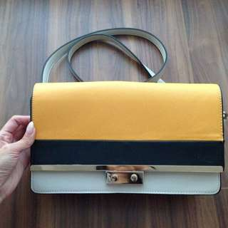 ZARA Multi Color Block Side Purse